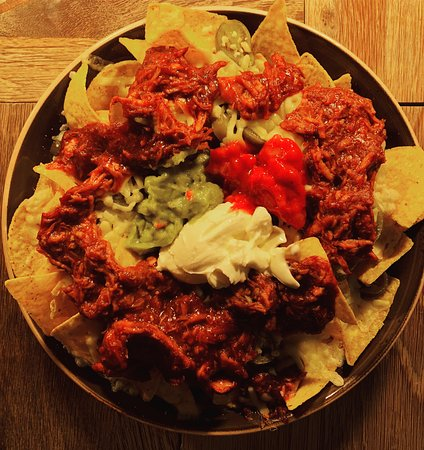 The Bistro at Nine Jars: What's better than nachos? Pulled pork covered nachos!