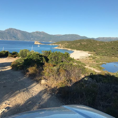 Relais de Saleccia: Saleccia Beach Site and Lotu Beach (no road access) view