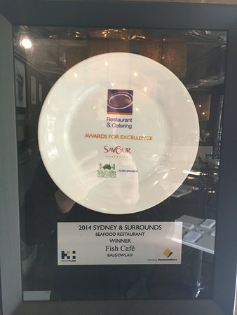 Balgowlah, Australien: winner best seafood restaurant Sydney