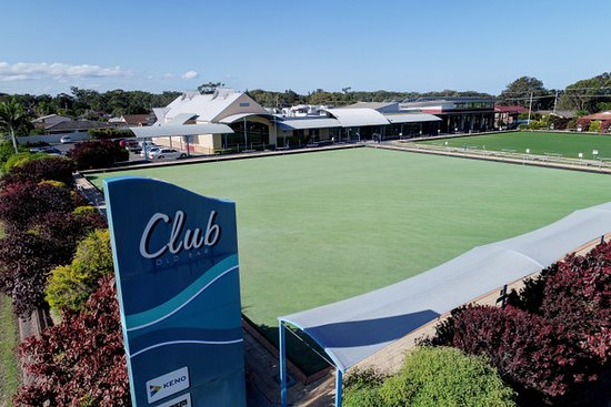 Old Bar, Australia: Play barefoot bowls any time - just $2 for members or $5 for non members