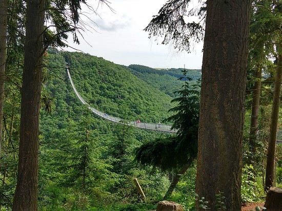 Hangeseilbrucke Geierlay: Long view.