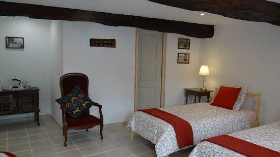 Villiers-Fossard, Frankrijk: Twin room on the ground floor
