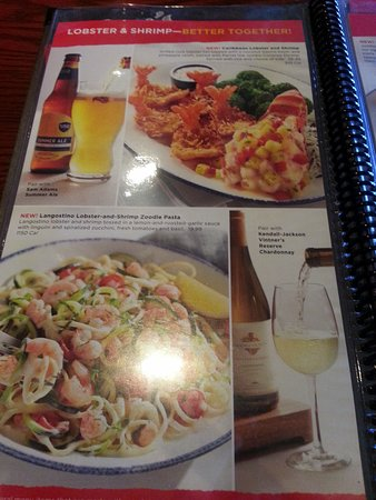 Red Lobster: more choices