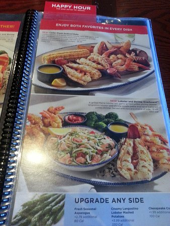 Red Lobster: more entrees