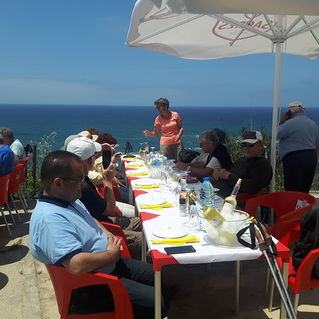 Azenhas do Mar, Portugal: La vue , l'accueil, la cuisine