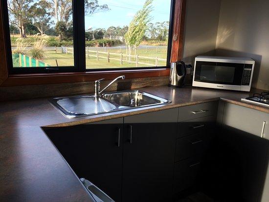 Acheron Cottages :  Kitchen with views