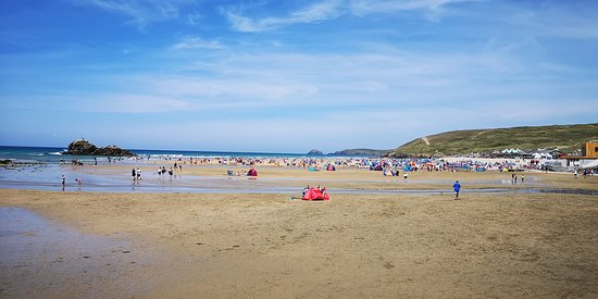 The Watering Hole: The huge Perranporth beach.