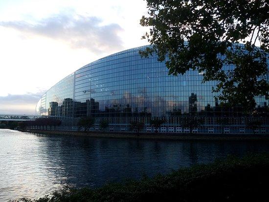 European Parliament Strasbourg: Vista sul Parlamento Europeo