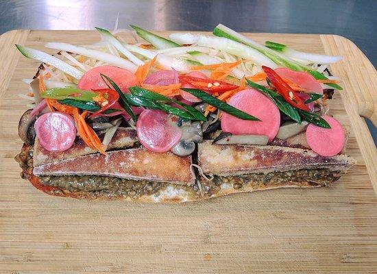 Kings Beach, Australien: Vegan Banh mi roll