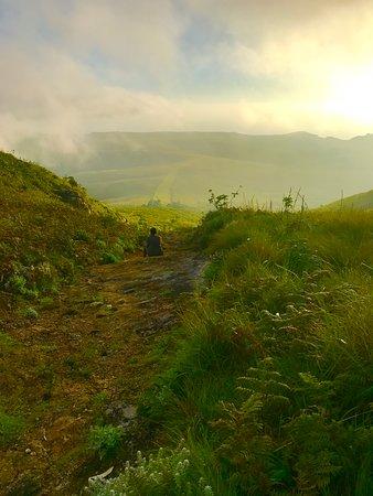 Mount Mulanje: Outside of CCAP hut at sunset