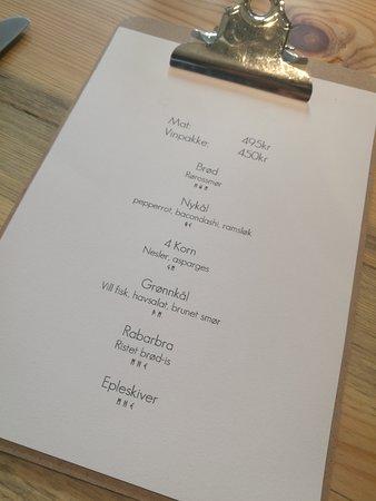 Restaurant SOL: The menu