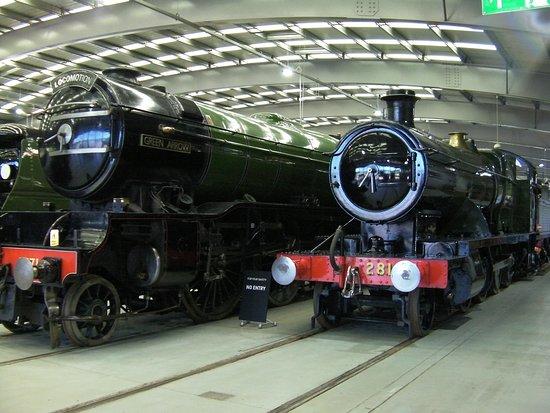 Shildon, UK: Gleaming locos inside the main building