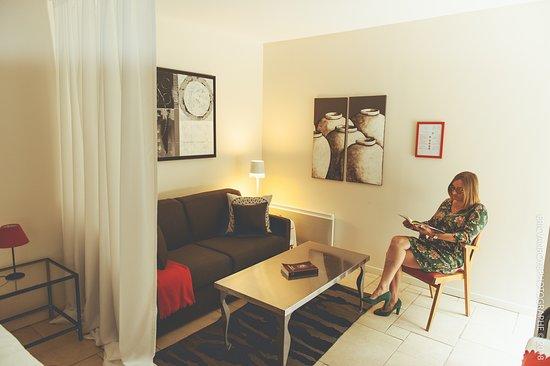 Domaine de la Pommeraye Spa et Chambres d'Hôtes: Lodge Amarante - Coin salon