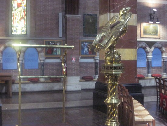 All Saints' Church: Gilded lectern with an eagle