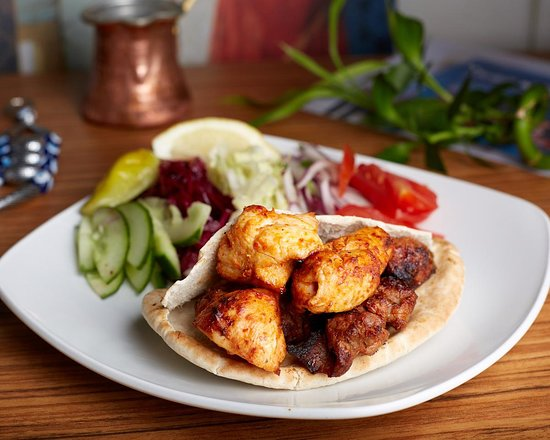 Taksim Meze Grill & Bar: chargrilled chicken shish and lamb shish