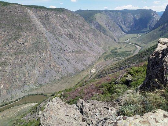 Ulagan, Ρωσία: вид на долину Чулышман с перевала Кату- Ярык