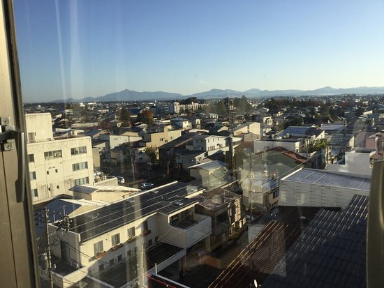 Art Hotel Joetsu : 部屋の窓から