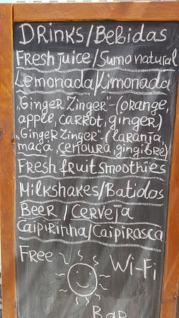 Moinho Cafe and Bar: Today's Menu Board