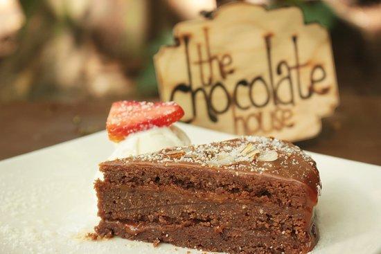 The Chocolate House: Porción de Torta fitness de Arequipe
