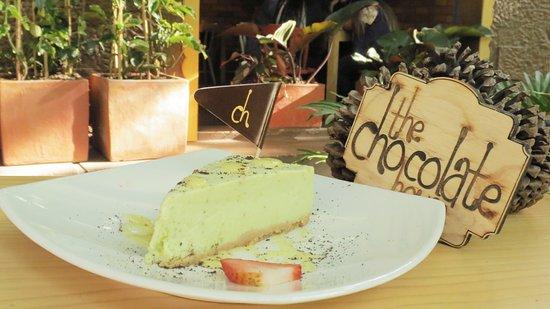 The Chocolate House: Porción de Cheesecake de Pistacho con Chocolate Blanco