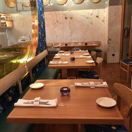 Björk Swedish Brasserie & Side Store: Menu and interior