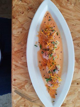 Nuna Raymi: Ceviche topped potato