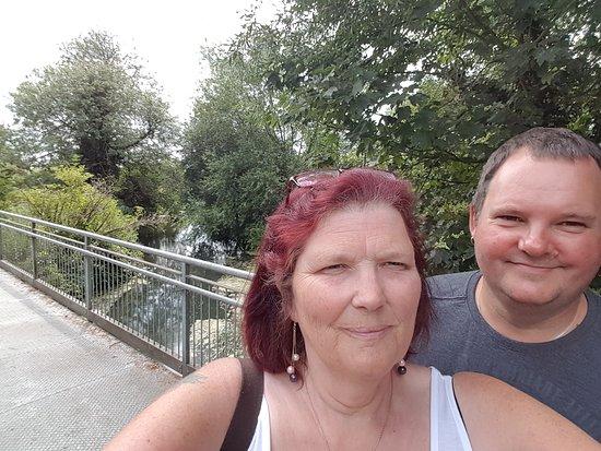 Langford, UK: birthday trip. taken by the bridge