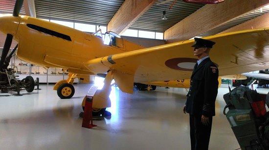 Danmarks Flymuseum: Een geel vliegtuig, hmm opvallend.