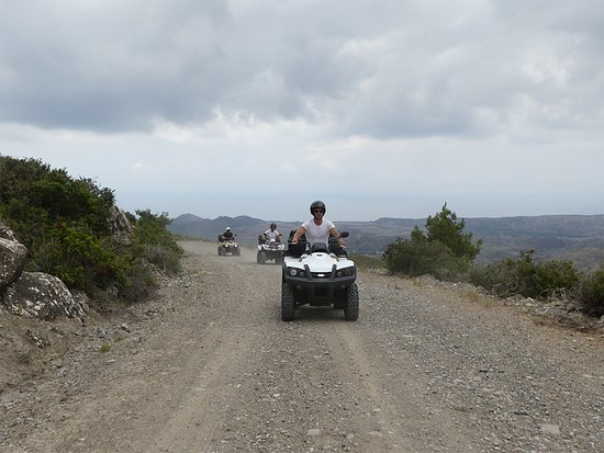 Rhodes Quad Tours: Quad Safari Kiotari - scenic surroundings, wind and discovering new places driving off road!