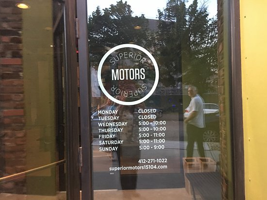 Superior Motors: Named after the old car dealership that occupied the building