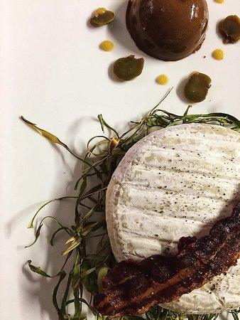 Via Baseli: Cheveux d'asperges, scottarella fromagio et son parfait de langoustines & crème d''asperges