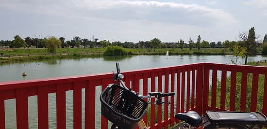 Canet-en-Roussillon, France: Riding our bikes
