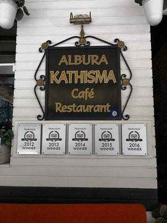 Albura Kathisma Cafe & Restaurant: Sign of the restuarant