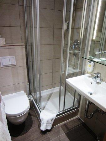 comfortable shower in small bathroom picture of hotel drei raben rh tripadvisor co za Shower for Narrow Bathroom Design shower stalls in small bathrooms