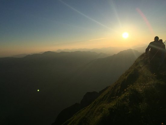 Vorarlberg, Österreich: Amazing view after a short night hike to see an incredible sunrise and an incredible view!!!
