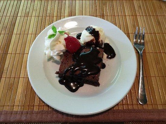Nagyvazsony, Hungary: Fincsi brownie!