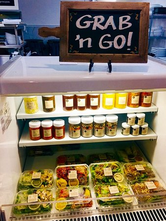 Wildest Greens Organic Restaurant: Grab 'n Go - fully stocked with soups, salads, wraps, sandwiches and dinner meals to go.