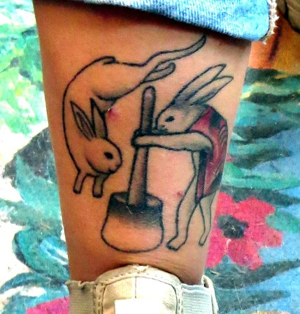 Bunny Tattoo Picture Of The Bunny Museum Altadena
