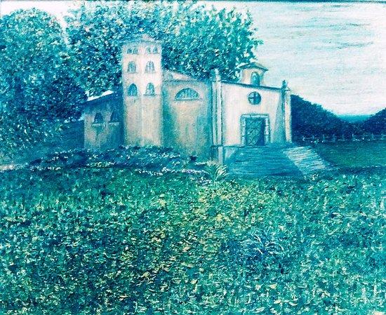 Castel San Giorgio, Italië: olio su tela della chiesetta ss. annunziata castelluccio autore alfredo fasolino 1994