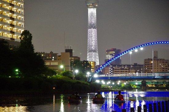 Edogawa, Japan: Sky tree nghit kayak experience