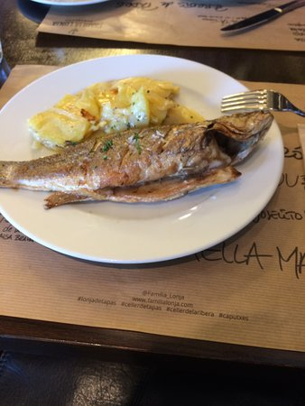 Celler de Tapas - Universitat: Sea Bass