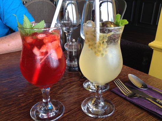 The Italian Cafe: House made lemonades - strawberry, passionfruit