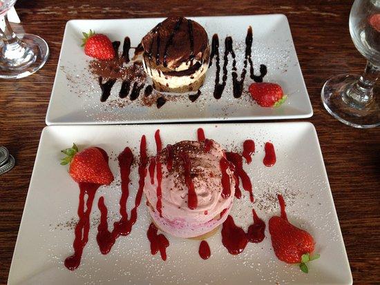 The Italian Cafe: Tiramisu - almond, strawberry
