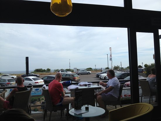 The Italian Cafe: View from outdoor seating across the water
