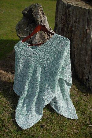 Darnum, Australia: hand woven alpaca and silk poncho - Nickelby Designs