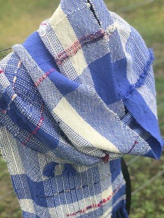 Darnum, Australia: Nickelby Designs hand woven scarf 100% Australian made