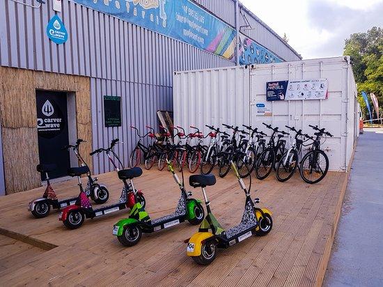 Jastarnia, Polandia: Nasza wypożyczalnia hulajnóg oraz rowerów elektrycznych.