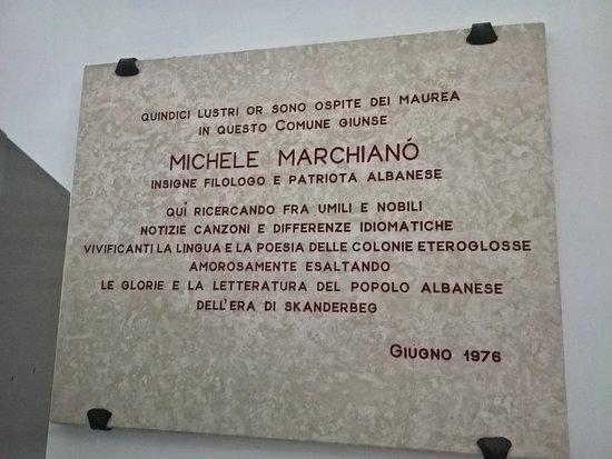 Chieuti, Italia: Lapide commemomrativa