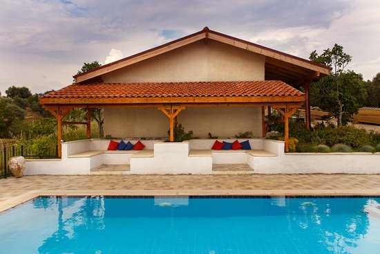 Ionia Guest House: Pavilion by the pool.
