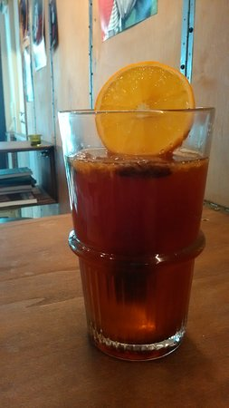 Twisted Moon: R.I.P. barley wine, Kahlua shot, cocoa beans, fresh orange juice